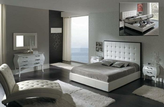 modernes schlafzimmer gr n neuesten design. Black Bedroom Furniture Sets. Home Design Ideas
