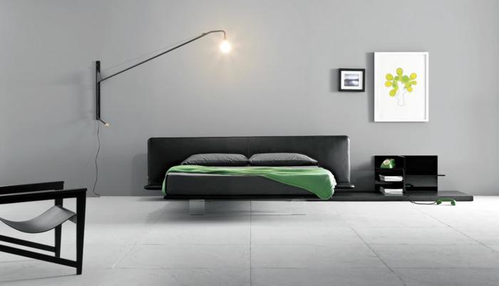 wunderschönes model - schlafzimmer farben - graues design