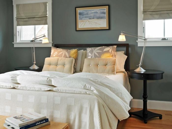 interessantes modell - schlafzimmer farben - grau und weiß