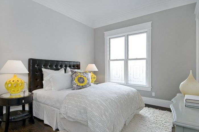 schlafzimmer farben - grau und schön