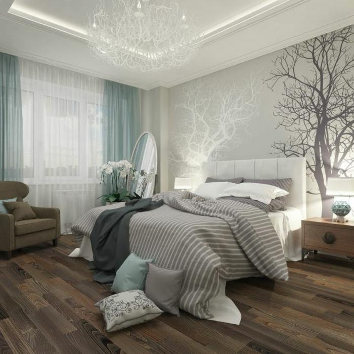 schlafzimmer-in-grau-wunderschönes-modell-graue-bettwäsche
