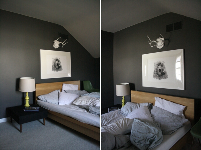 52 tolle vorschl ge f r schlafzimmer in grau. Black Bedroom Furniture Sets. Home Design Ideas