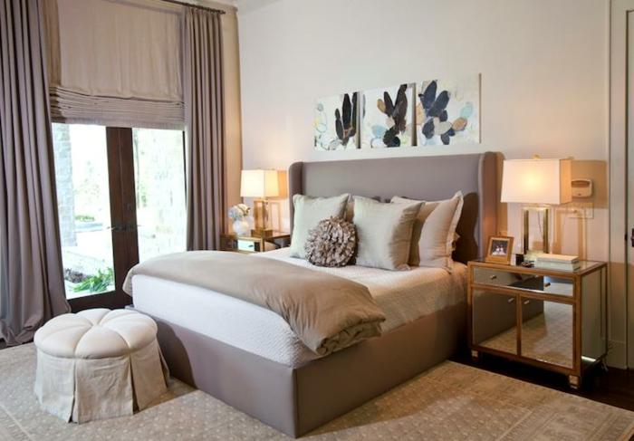 tolles design - schlafzimmer farben - braun und grau