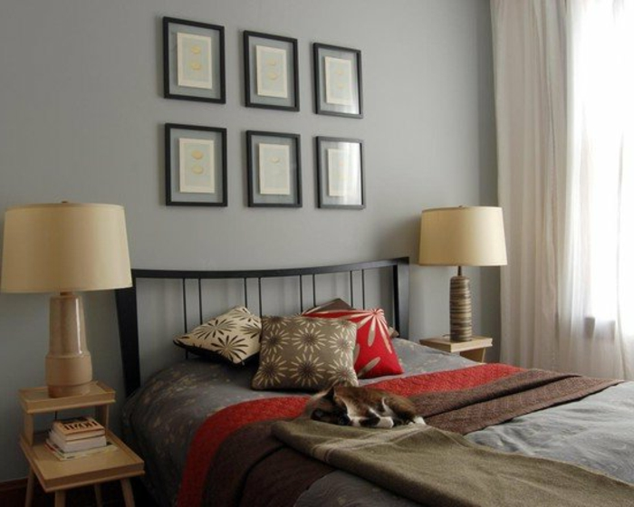 schlafzimmer-in-grau-zwei-super-lampen
