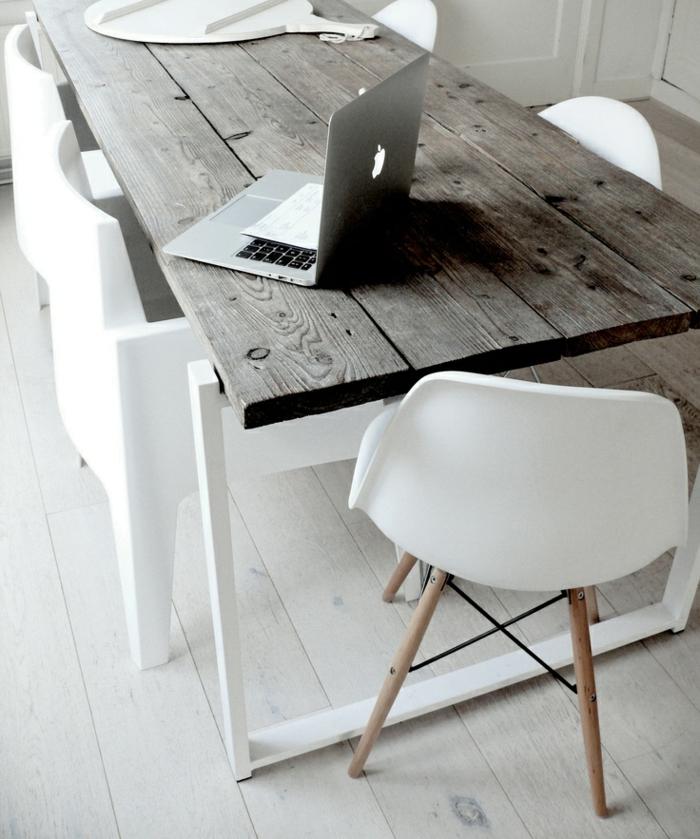 schreibtisch-ideen-ein-stuhl-in-weiß