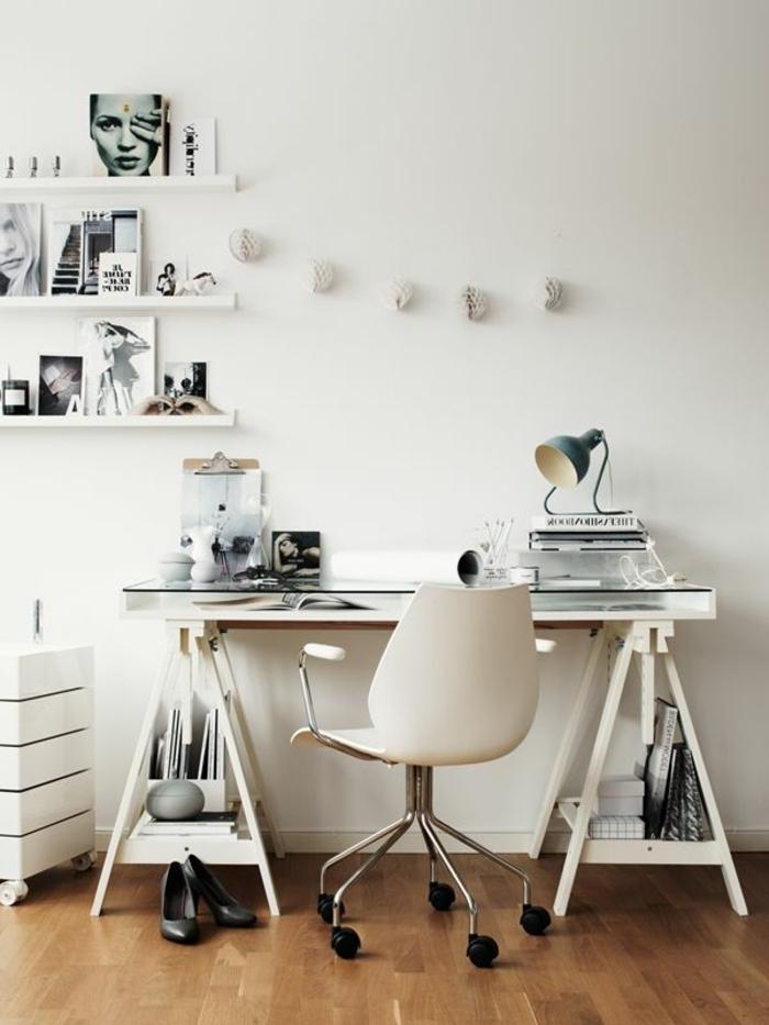 schreibtisch-ideen-weiße-gestaltung-modernes-aussehen