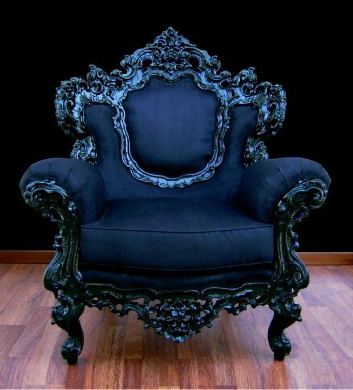 blauer-Sessel-Plüsch-Barock-Stil-italienisches-Design