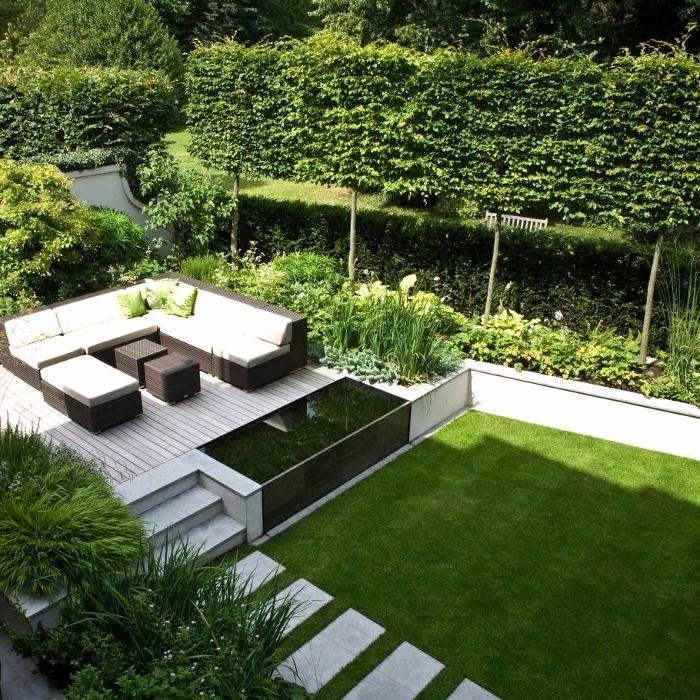 scihtschutz mit pflanzen garten gestalten gestaltungsideen für den außenbereich grüne büsche