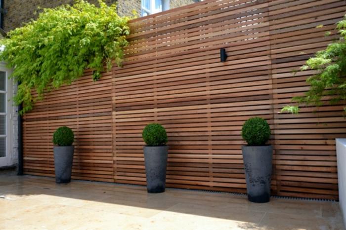 Gartenzäune Aus Holz Sichtschutz