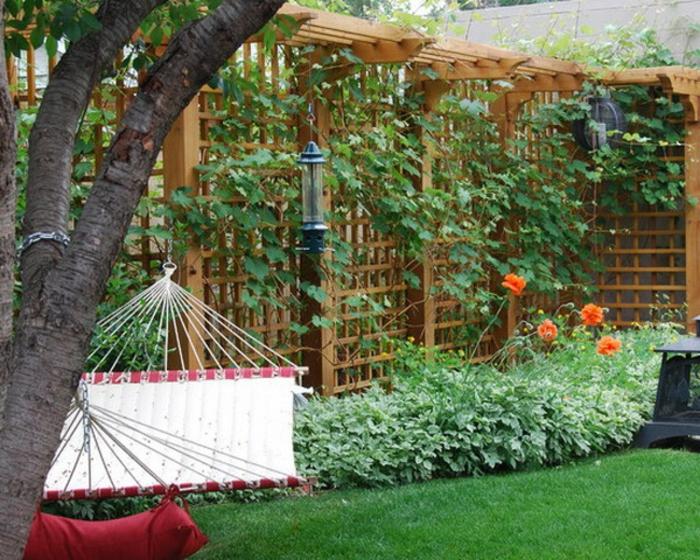 Garten Trennwand Holz mit gut design für ihr haus ideen