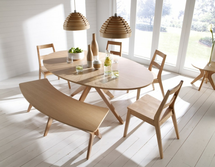 skandinavisch-einrichten-ovale-form-hölzerne-gestaltung