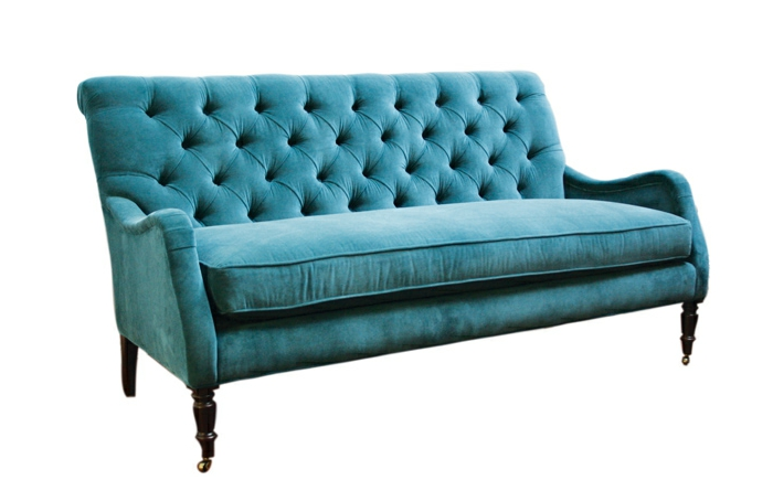 sofa-aus-samt-blaues-modell