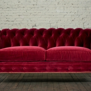 Sofa aus Samt: ein aristokratisches Möbelstück!