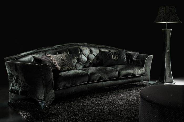 sofa-aus-samt-traditionelles-schwarzes-modell