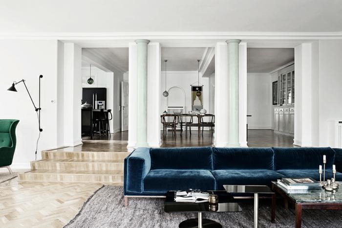 sofa-aus-samt-weiße-gestaltung