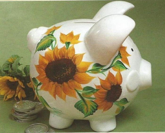 sparschwein-bemalen-sonnenblumen