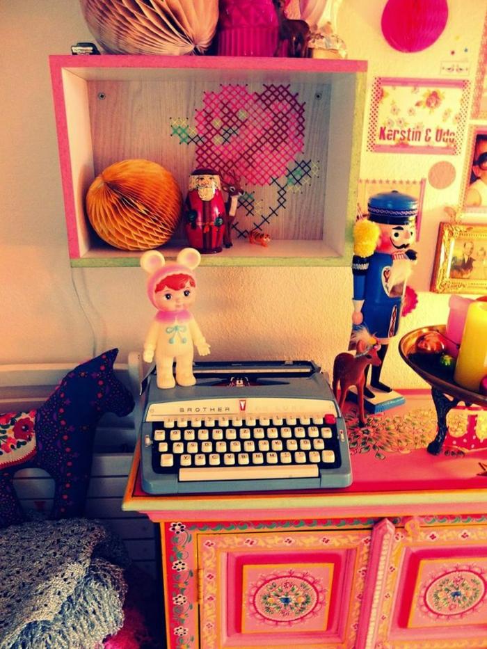 vintage-Brother-De-Luxe-Schreibmaschine-Kinderzimmer