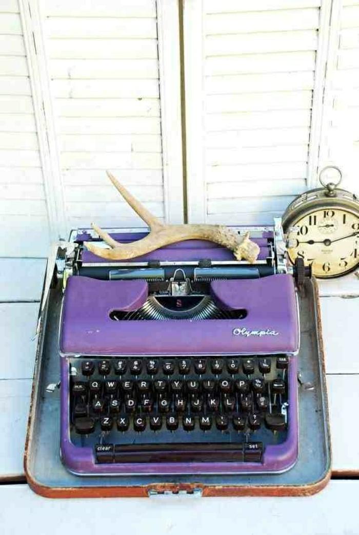 vintage-Schreibmaschine-Olympia-Kasten-Geweih