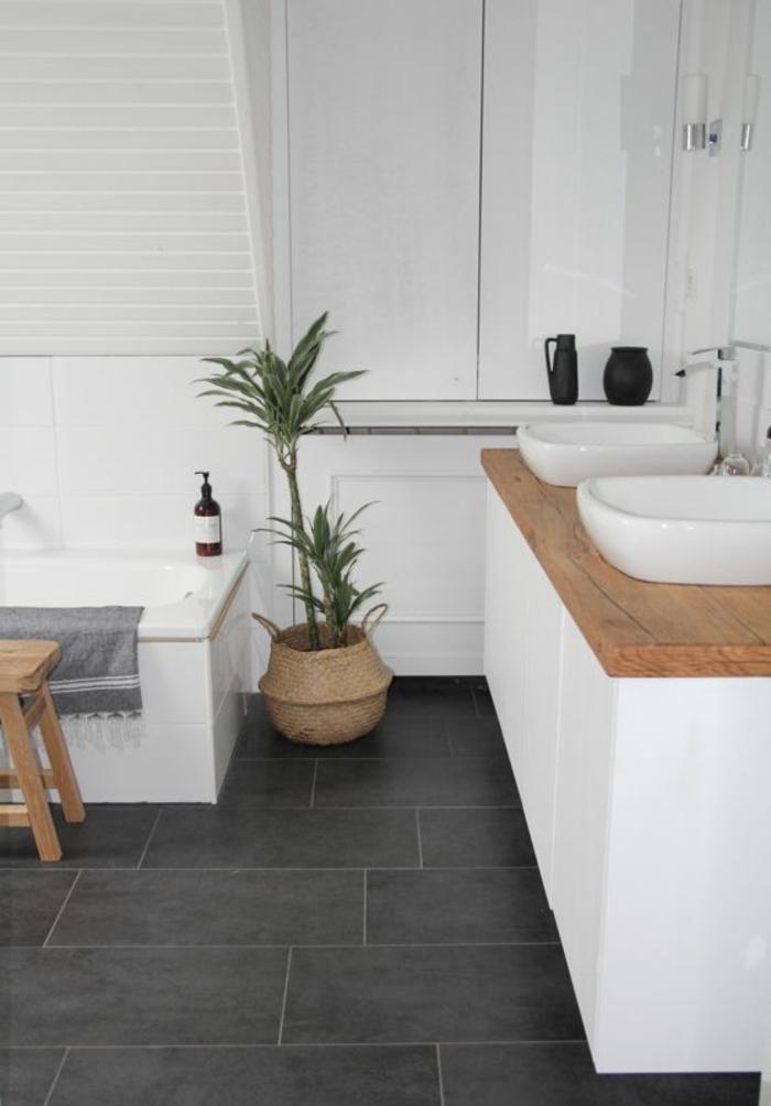 Doppelwaschtisch holz weiß  70 einmalige Modelle von Waschtisch aus Holz! - Archzine.net