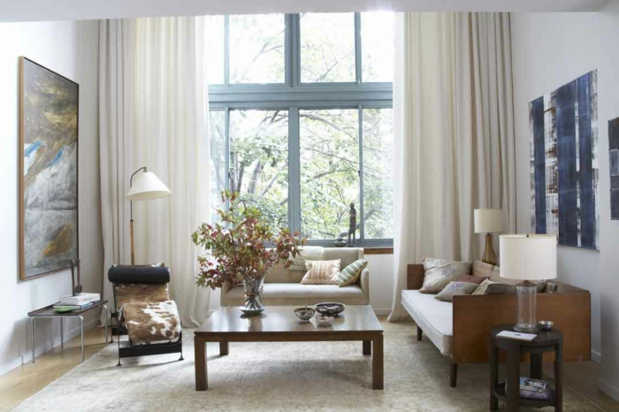 Wohnzimmer Gestalten Hbsche Warme Gardinen