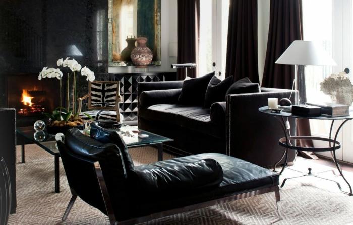 wohnzimmer in schwarz: 25 interieurs - archzine, Esszimmer
