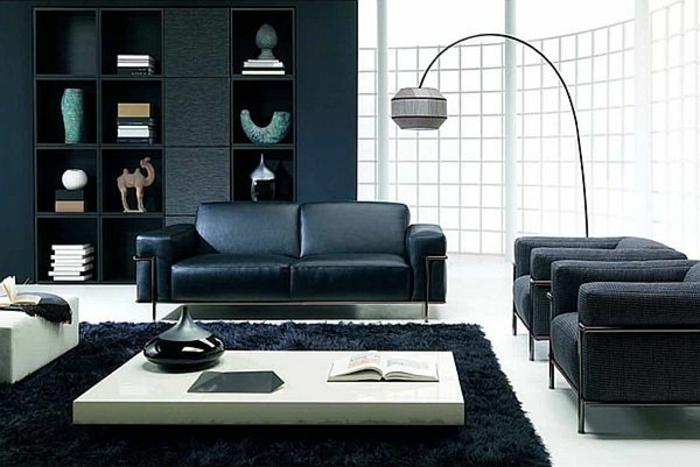 wohnzimmer-in-schwarz-interessante-lampe