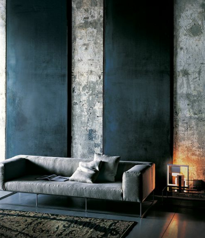 wohnzimmer-in-schwarz-interessante-wand