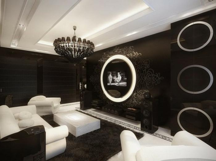 schwarz wohnzimmer:originelle einrichtungsideen – wohnzimmer in schwarz