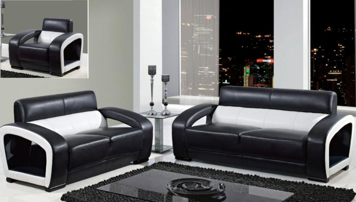 wohnzimmer-in-schwarz-zwei-schicke-sofas