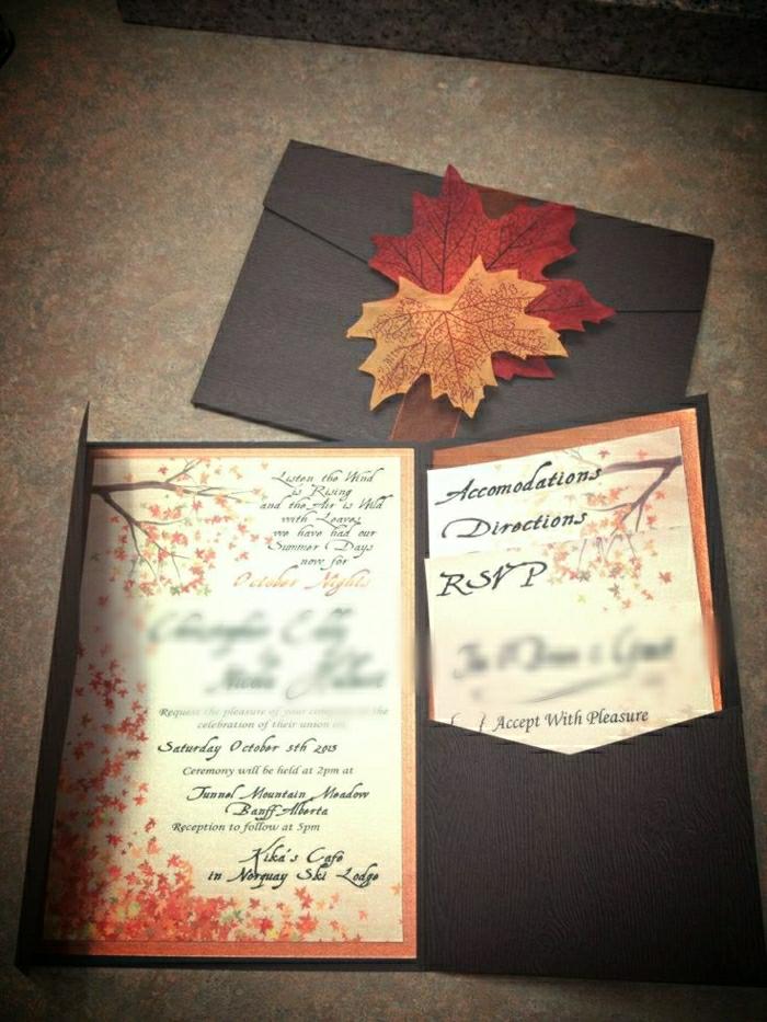 Hochzeitseinladung-Herbst-Blätter-Dekoration-romantisch-nostalgisch ...
