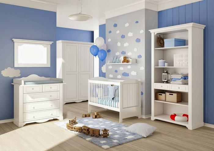 Kinder Zimmer: kinderzimmer blau grau streichen