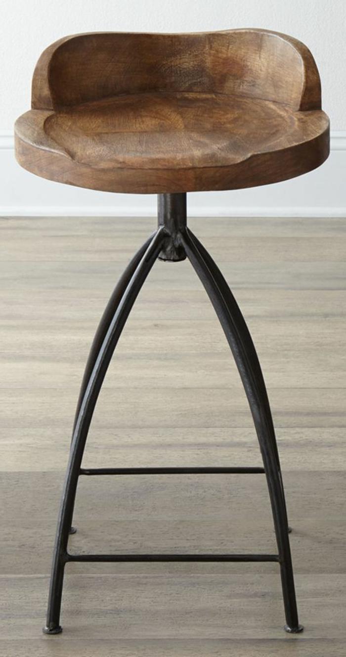 Bar-Hocker-Holz-Lehne-kreatives-Design