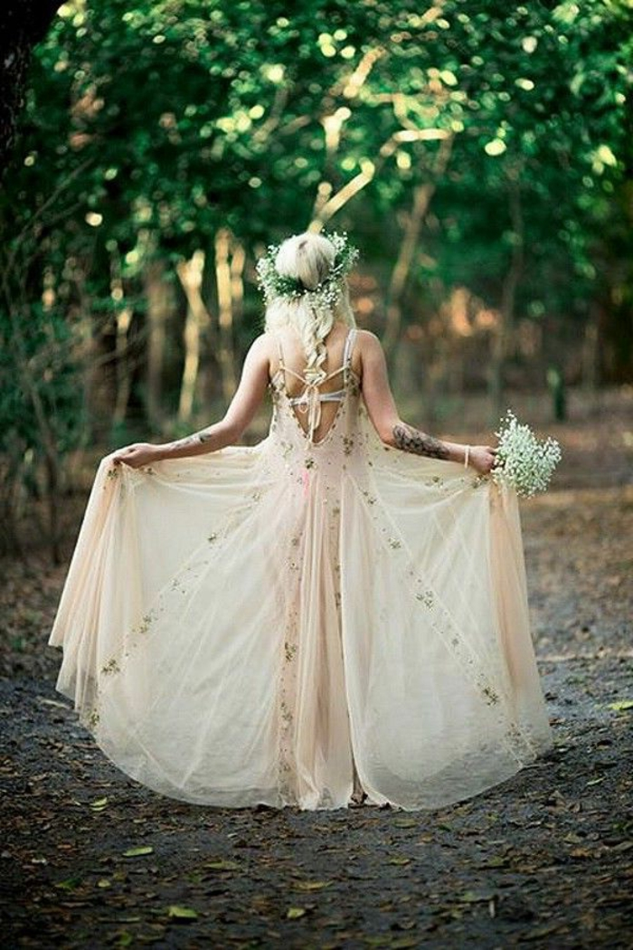 Boho-Kleid-Hochzeit-Braut-romantisches-Modell