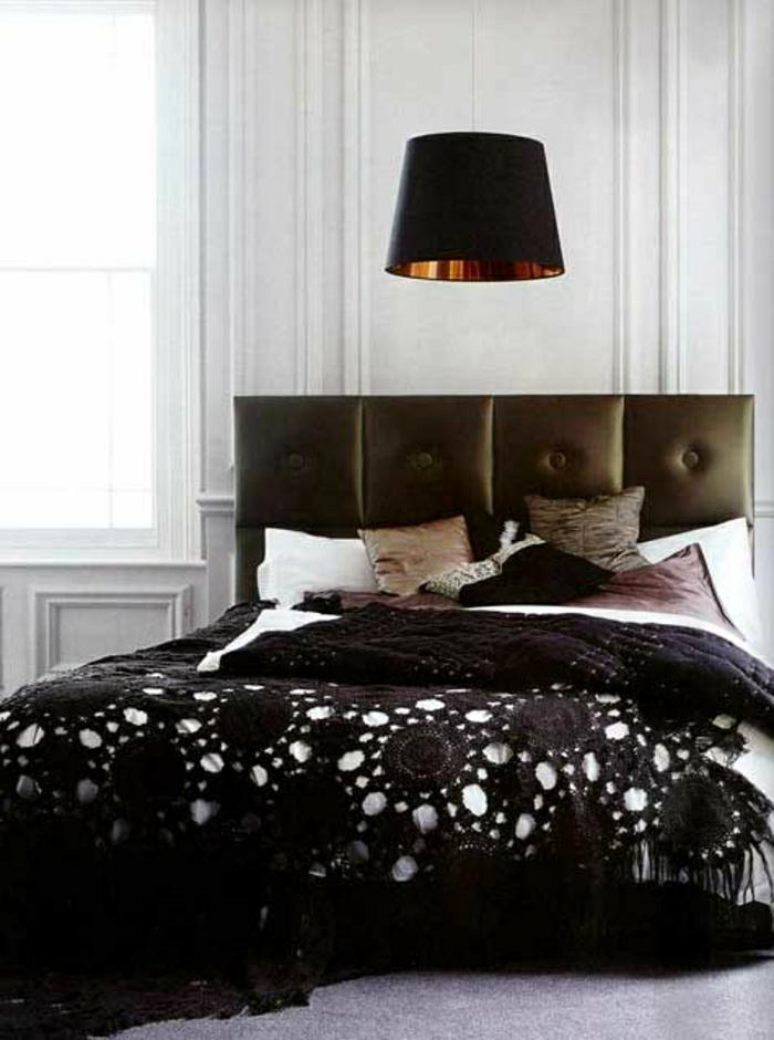 Crochet-Bettdecke-braun-handgemacht