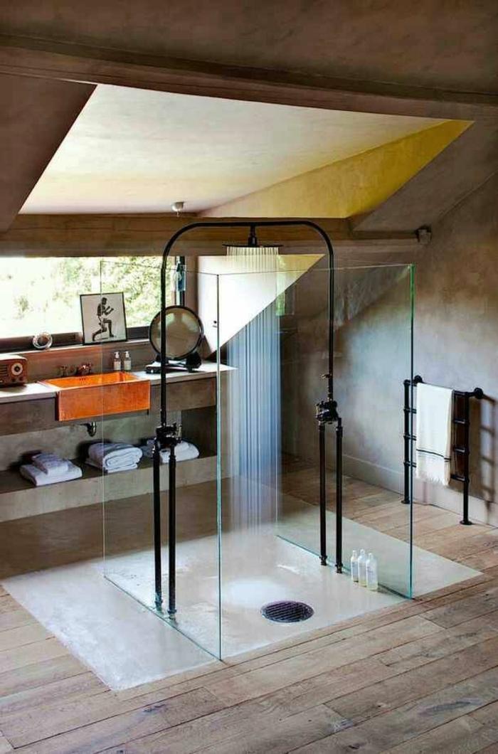 Designer-Badezimmer-Duschkabine-in-der-Mitte