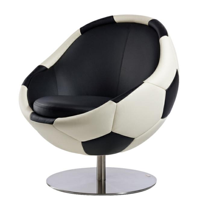 Designer-Stuhl-Sessel-Leder-Fußball-originell-innovativ