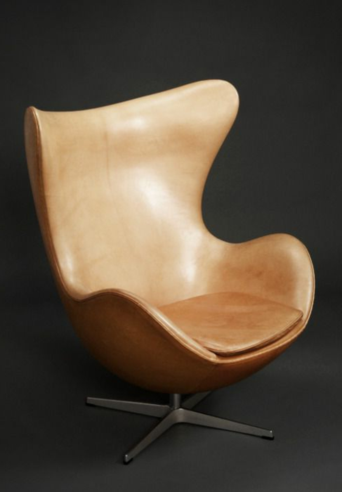 Designer-Sessel-Leder-braun
