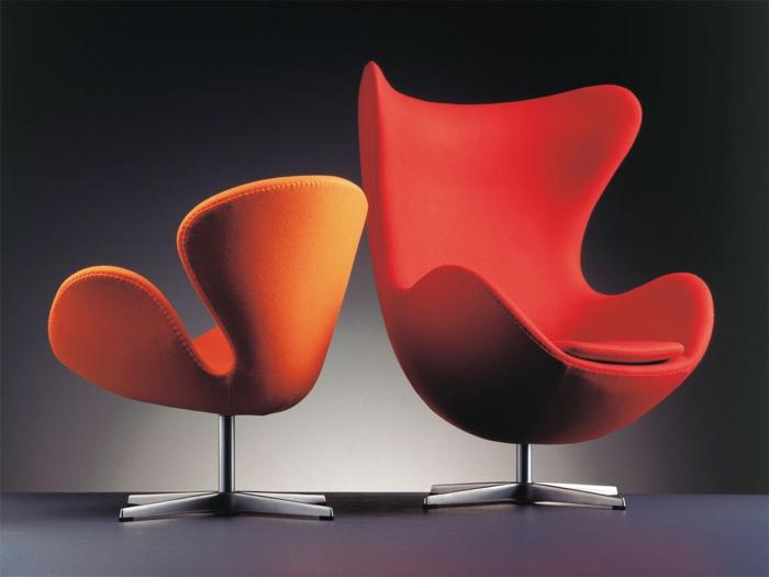 Designer-Stuhl-Sessel-rot-orange-groß-klein-bequem-schick
