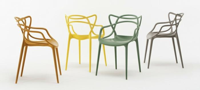 Designer-Stühle-Pastellfarben-interessante-Form-innovatives-Modell
