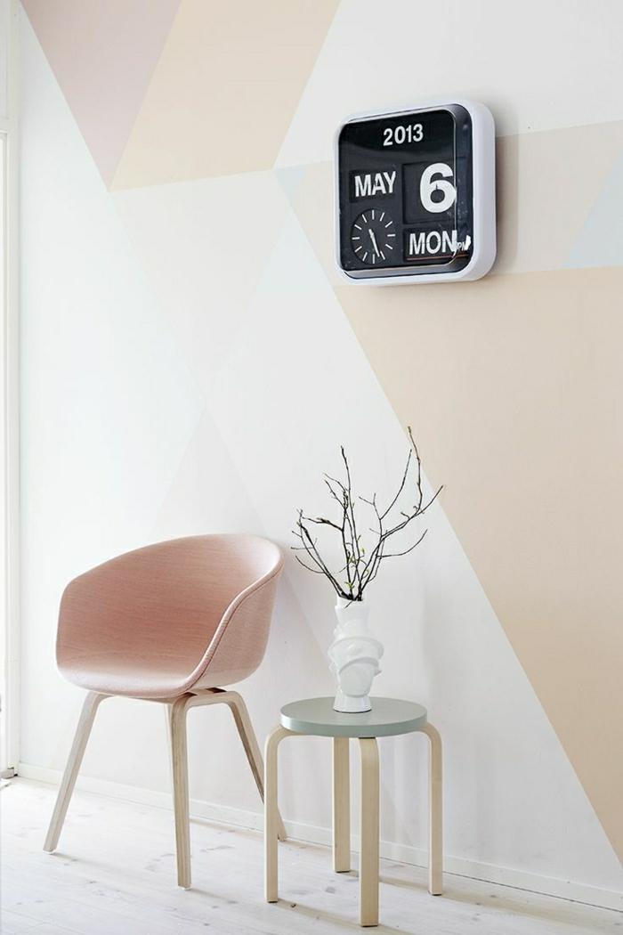 Designer-Stuhl-Hocker-Wanduhr-coole-Vase