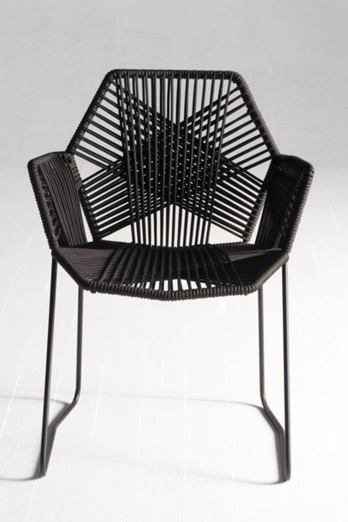 Designer-Stuhl-schwarz-interessant-ungewöhnlich