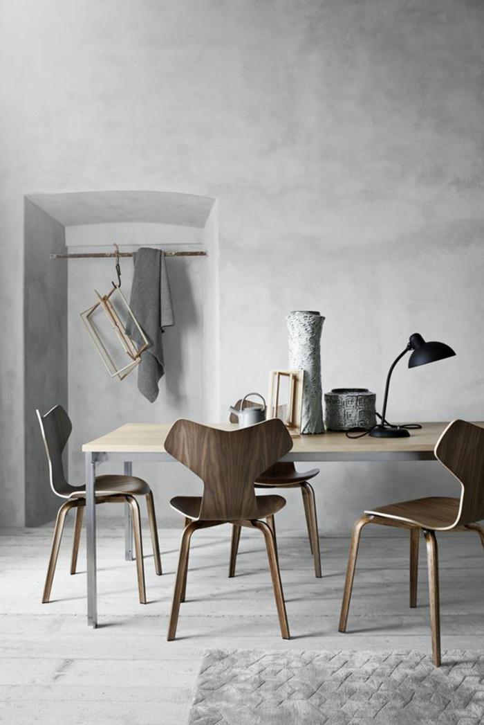 Designer-esstisch-mit-stühlen-skandinavischer-Stil