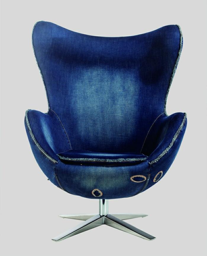 Egg-Chair-Denim-schick-extravagant