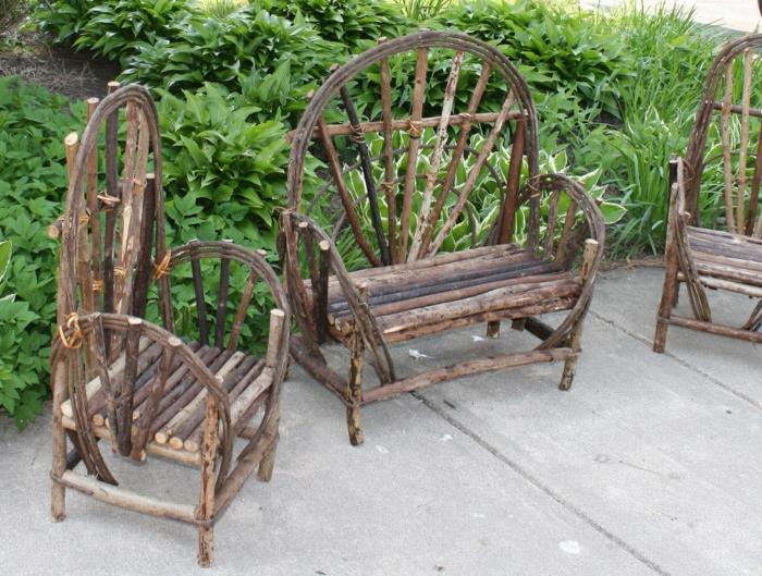 Gartenmöbel-Zweige-Sessel-originelles-Design-rustikaler-Stil
