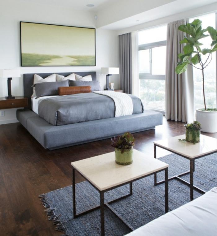 Großes-Bett-Strandhaus-polster