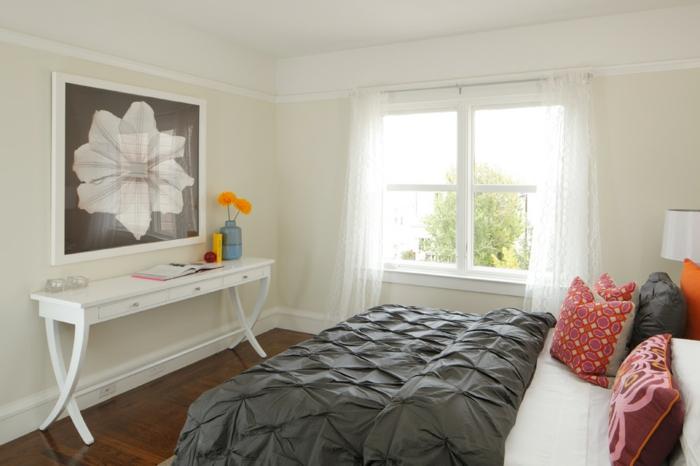 Kleines Zimmer Großes Bett : Großes Bild kleines Schlafzimmer weißer Konsolentisch