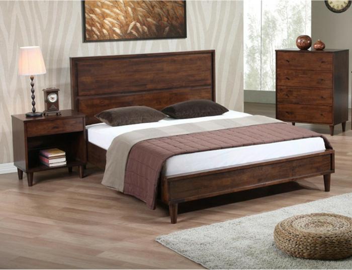Großes-Bett-kopfbrett-holz