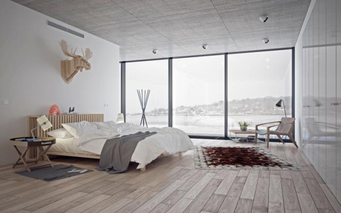 Großes-Bett-nordischer-Stil