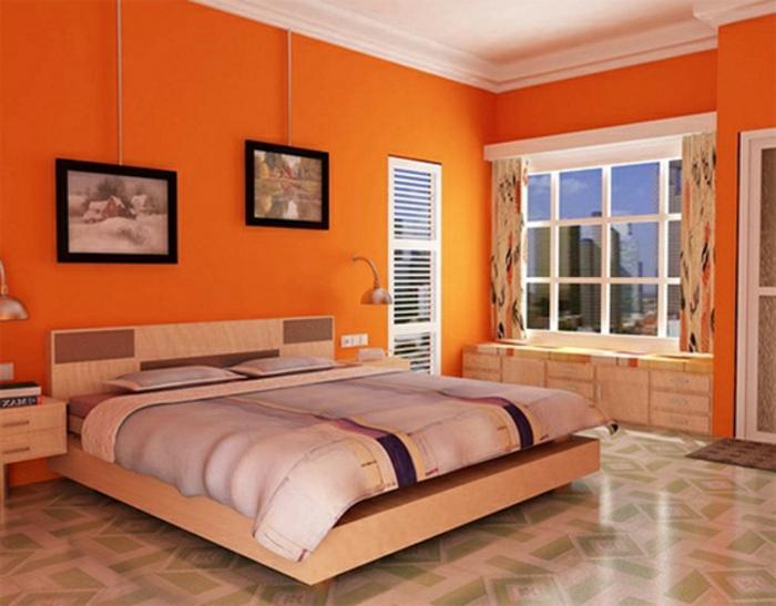 Großes-Bett-orange-hämgebilder