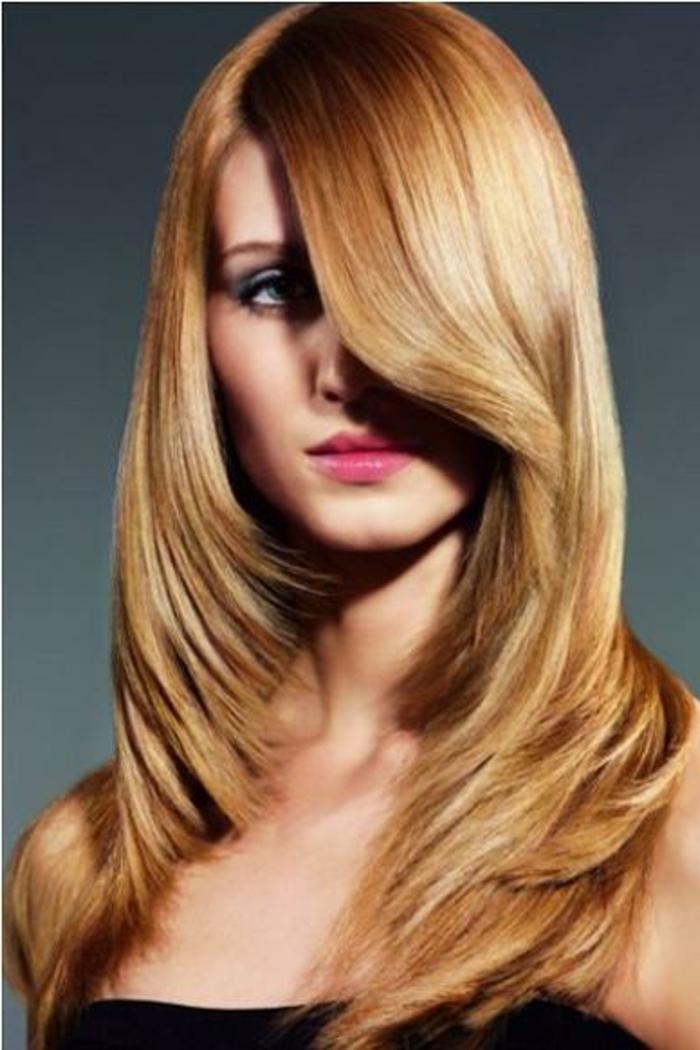 Herbst-frisuren-geschichtet-blond-honig